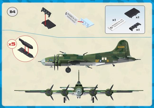 COBI 5707 Boeing B-17F Flying Fortress Memphis Belle Konstruktionsspielzeug